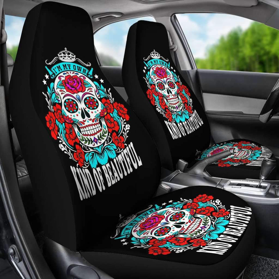 Sugar Skull Beautiful Car Seat Covers Amazing Gift Ideas T041520