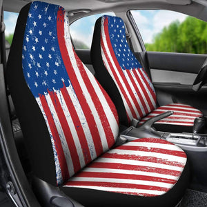 Distressed American Flag Car Seat Covers Amazing Gift T032720