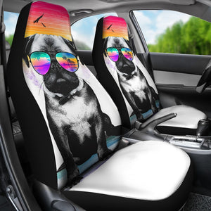 Summer Pug Anime Car Seat Covers