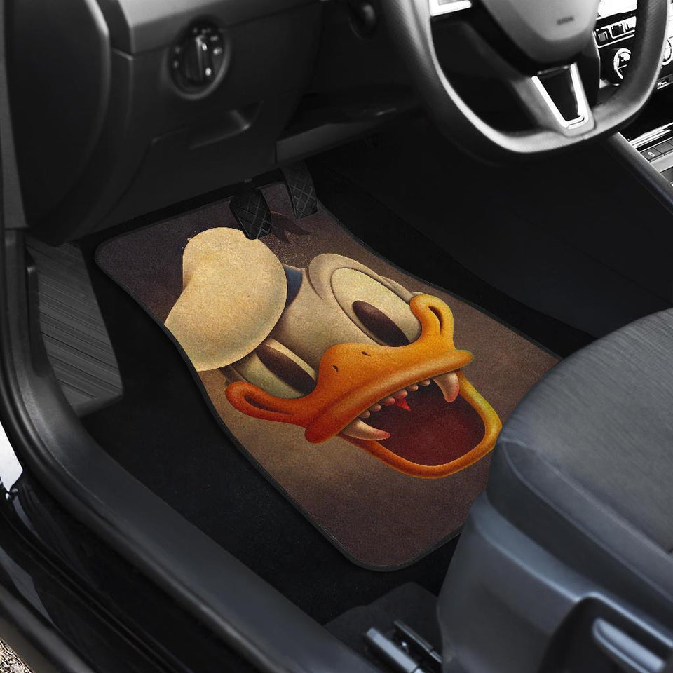 Donald Duck Halloween Face Walt Disney Car Floor Mats 191021
