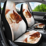 Cat Sleep Cute Car Seat Covers