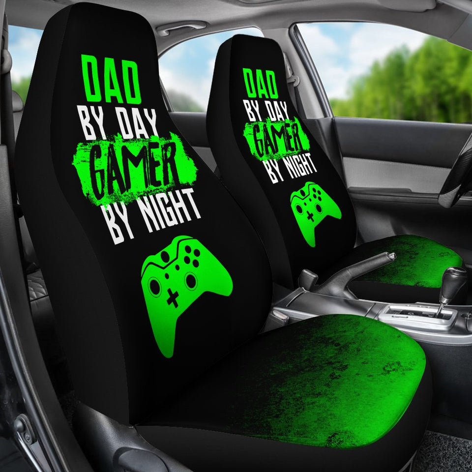 Dad By Day XB Gamer By Night Car Seat Covers Amazing Gift T090220