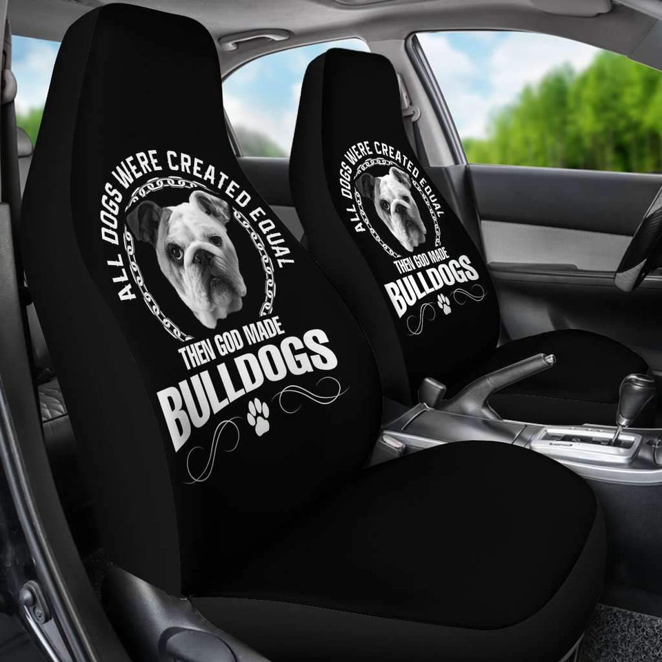Then God Made Bulldog Car Seat Covers Amazing Gift T032021
