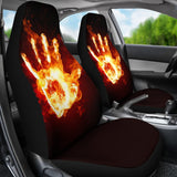 Fire Hand Car Seat Covers