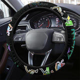 Rick And Morty Steering Wheel Cover | Rick & Morty Teleport Game Mode Steering Wheel Cover NT041304 GearForCar 3