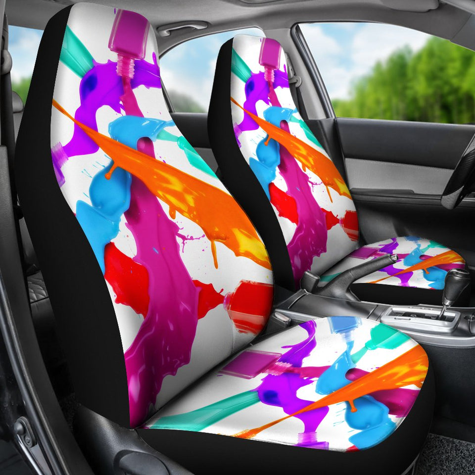 Nail Polish Spill Car Seat Covers Amazing Gift Ideas T031220