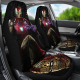 Iron Man Avengers Sitting Throne Marvel Infinity Gauntlet Car Seat Covers NA022310