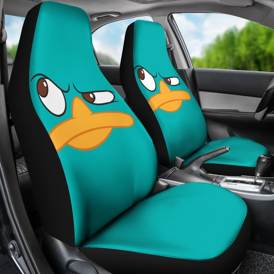 Perry The Platypus Animal Cartoon Car Seat Covers