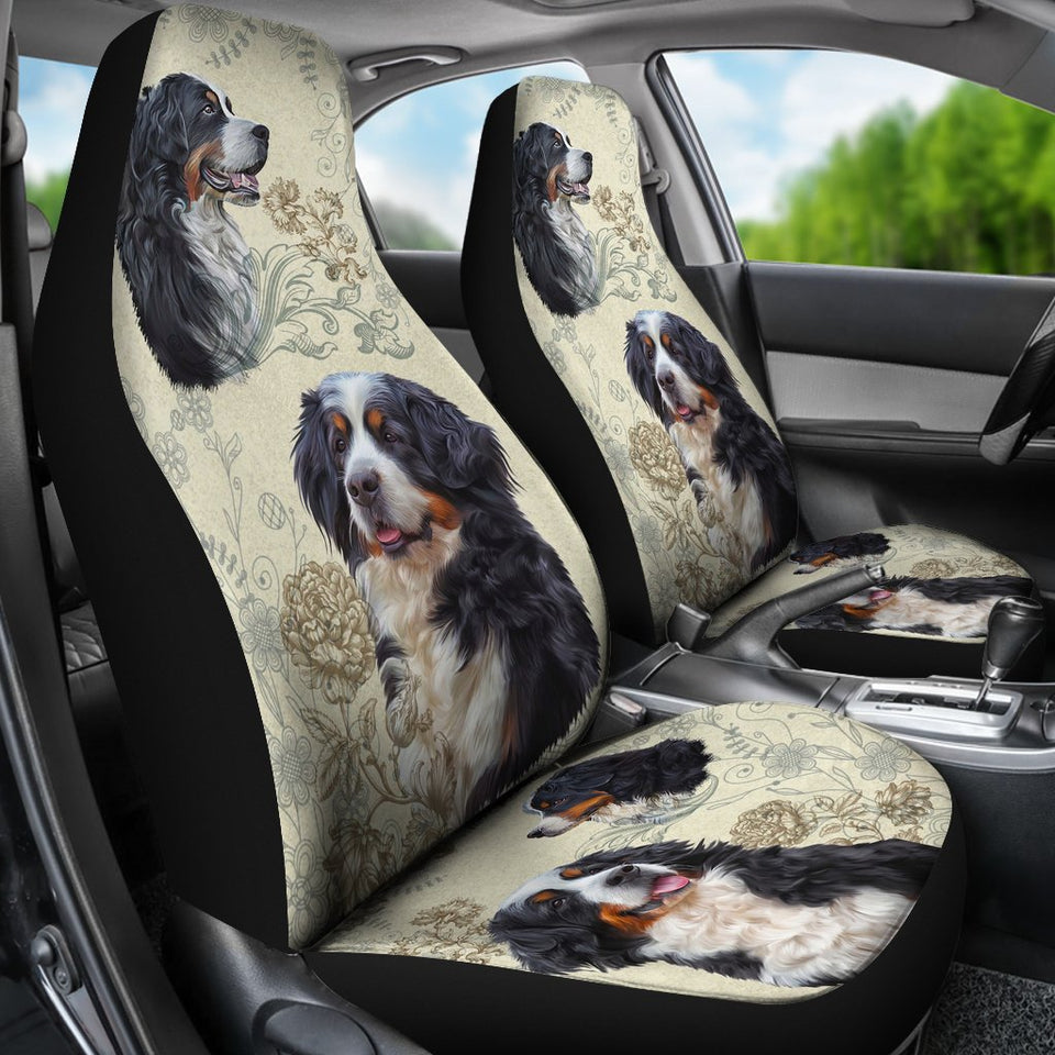 Cute Bernese Mountain Dog Car Seat Covers Amazing Gift T0130