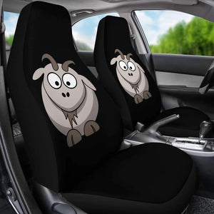 Goat Cartoon Car Seat Covers Amazing Gift Ideas T032920