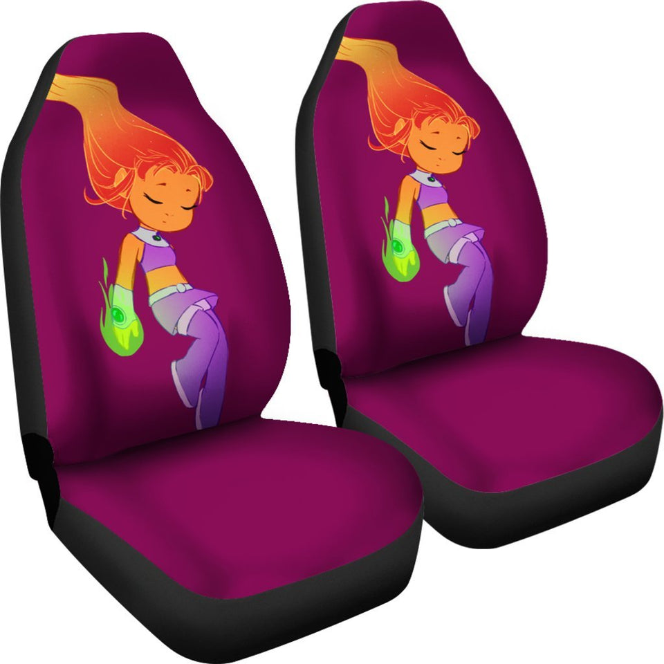 Star Fire Teen Titans Car Seat Covers