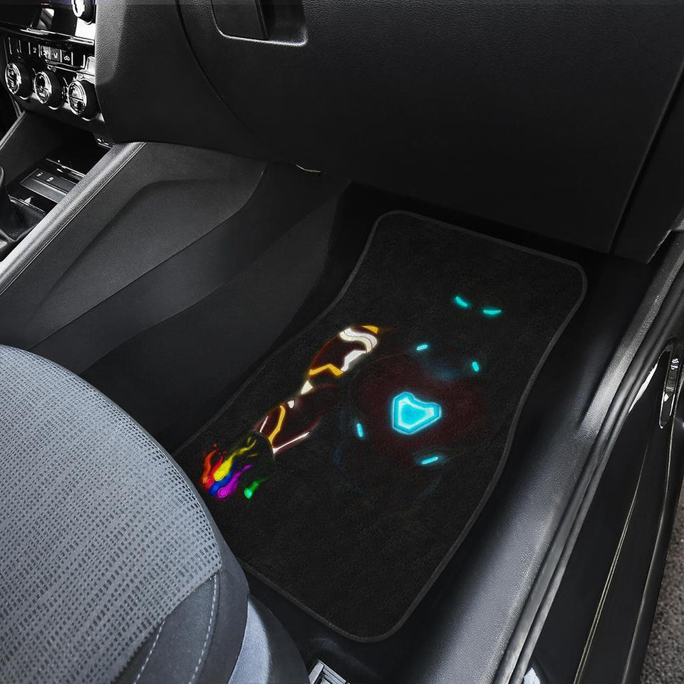 Iron Man Neon End Game Suit Marvel Car Floor Mats 191023