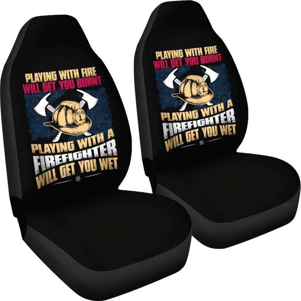 Get Wet Playing With A Firefighter Car Seat Covers T032920