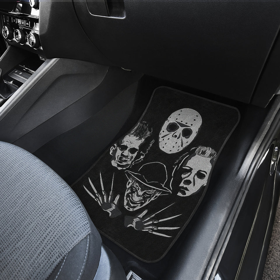 Michael Myers Jason Voorhees Freddy Krueger Leatherface Horror Car Floor Mats H063020