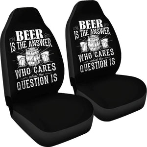 Beer Is The Answer Funny St Patrick Day Car Seat Covers Amazing Gift Ideas T032021