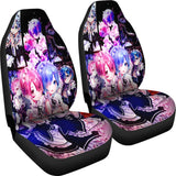 Ram And Rem Re Zero Anime Girls Car Seat Covers