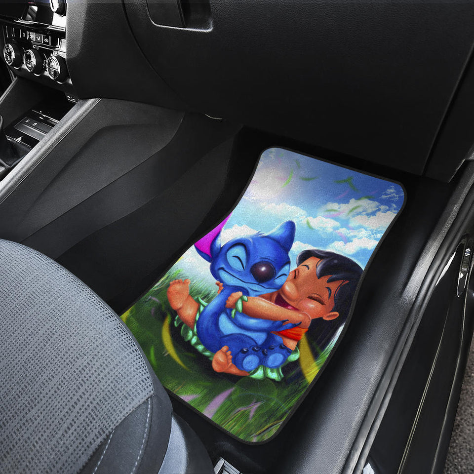 Stitch And Lilo Cute Car Floor Mats Disney Cartoon Fan Gift H200304