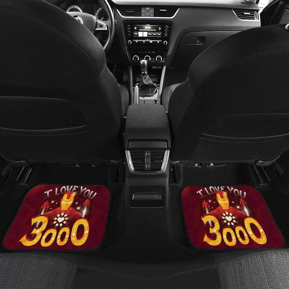 Iron Man Love 3000 End Game Marvel Car Floor Mats 191023
