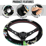 Rick And Morty Steering Wheel Cover | Rick & Morty Teleport Game Mode Steering Wheel Cover NT041304 GearForCar 5