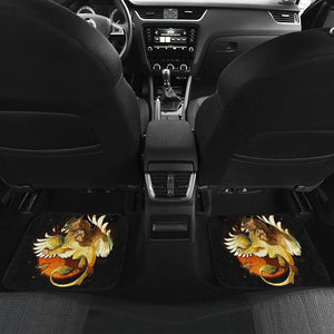 Gryphon Baby Dragon In Black Theme Car Floor Mats 191023