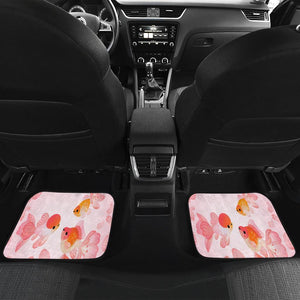 Golden Fish Cute In Pink Theme Car Floor Mats 191023
