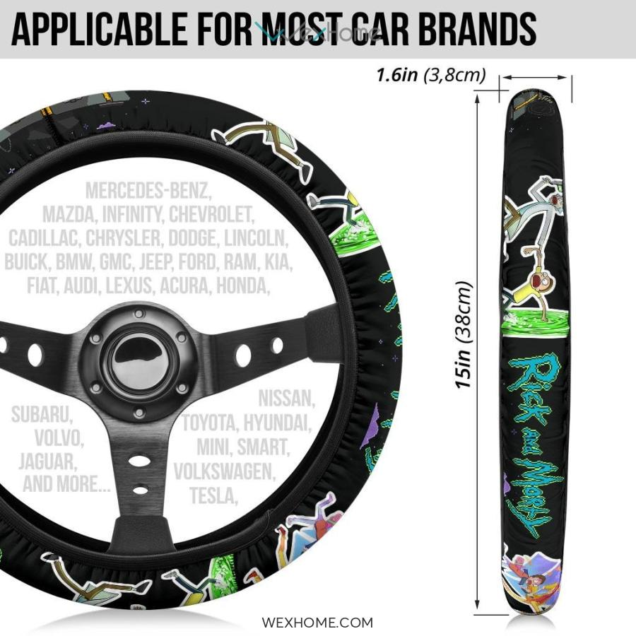 Rick And Morty Steering Wheel Cover | Rick & Morty Teleport Game Mode Steering Wheel Cover NT041304 GearForCar 7