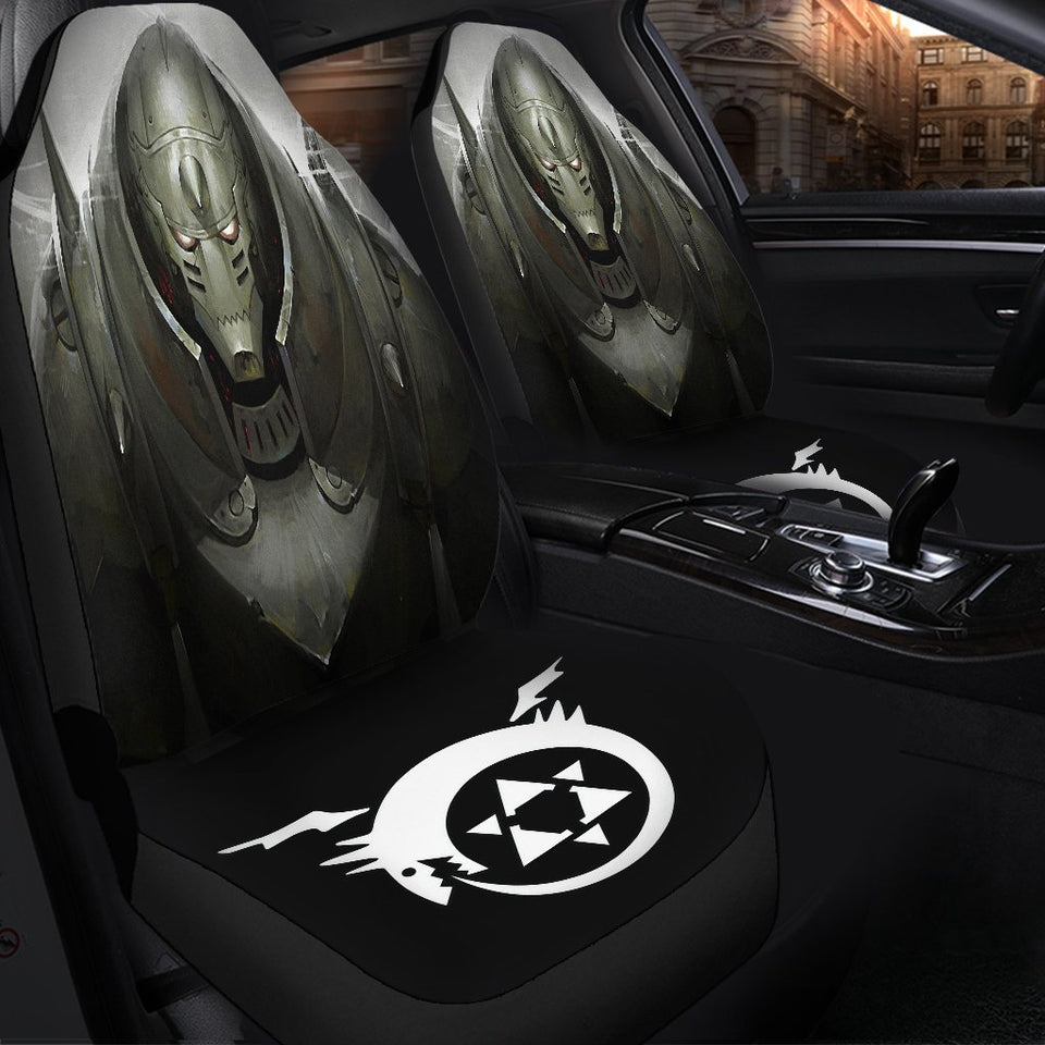 Full Metal Alchemist Brotherhood Elric Alphonse Car Seat Covers