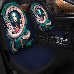 Spirited Away No Face Anime Car Seat Covers