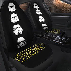Stormstrooper Head Star Wars Car Seat Covers