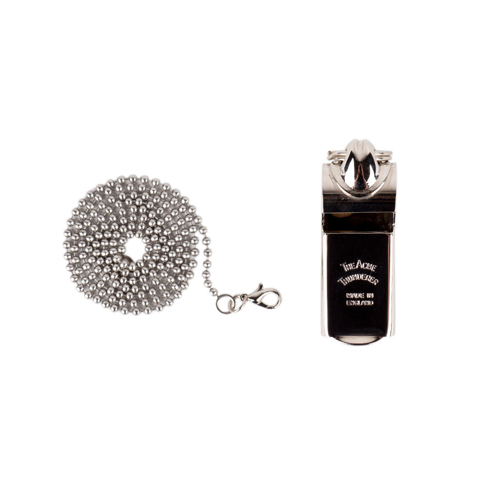 Acme Italian Police Whistle with Ball Chain