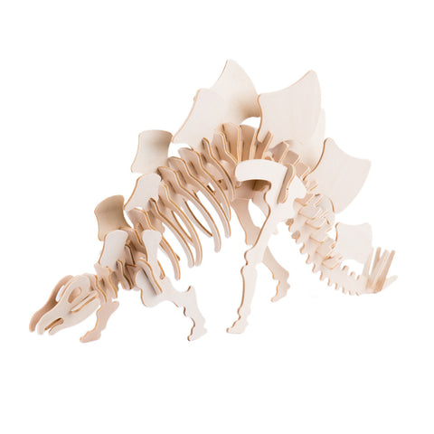 Animal Craft Stegosaurus Wood Puzzle Assembled