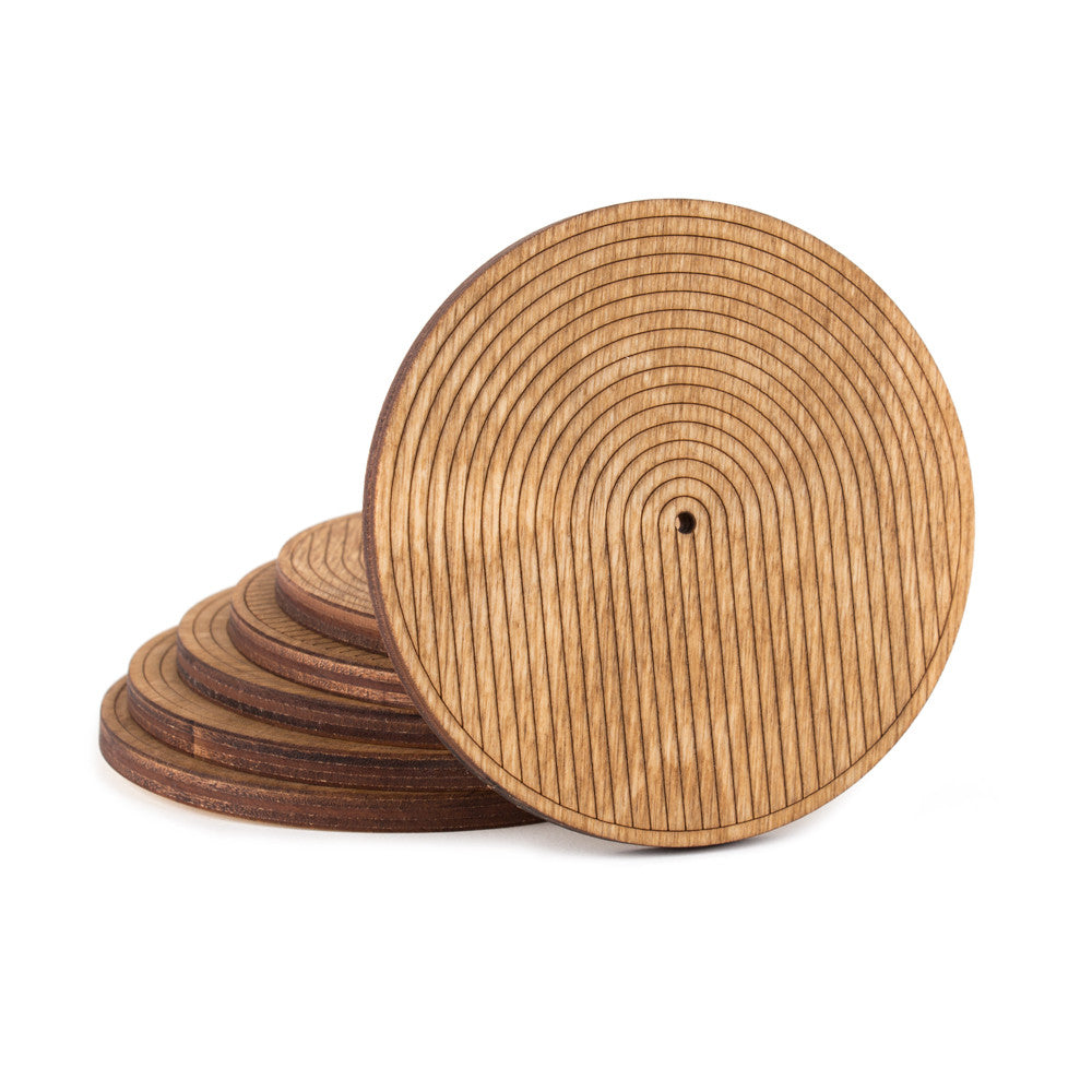 Set of 6 Wood Coasters Main Image