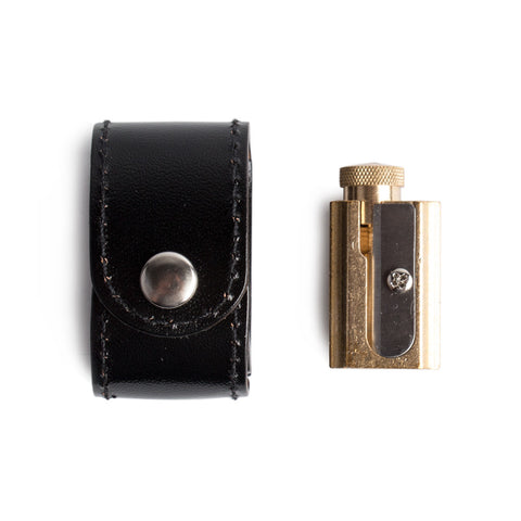 DUX Adjustable Brass Sharpener w/ Pouch