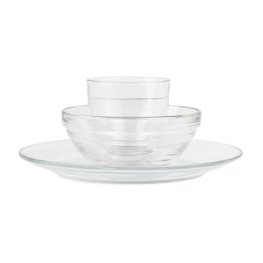 Duralex Tempered Glass Toddler Place Setting