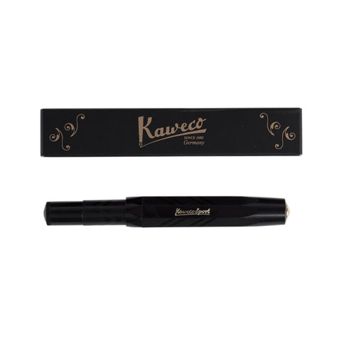 Kaweco Classic Sport Fountain Pen Black Guilloche with Box