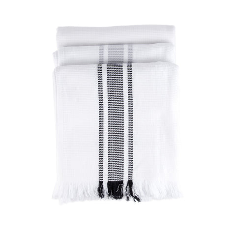 Mungo Continental Stripe Flat Weave Towel All Colors