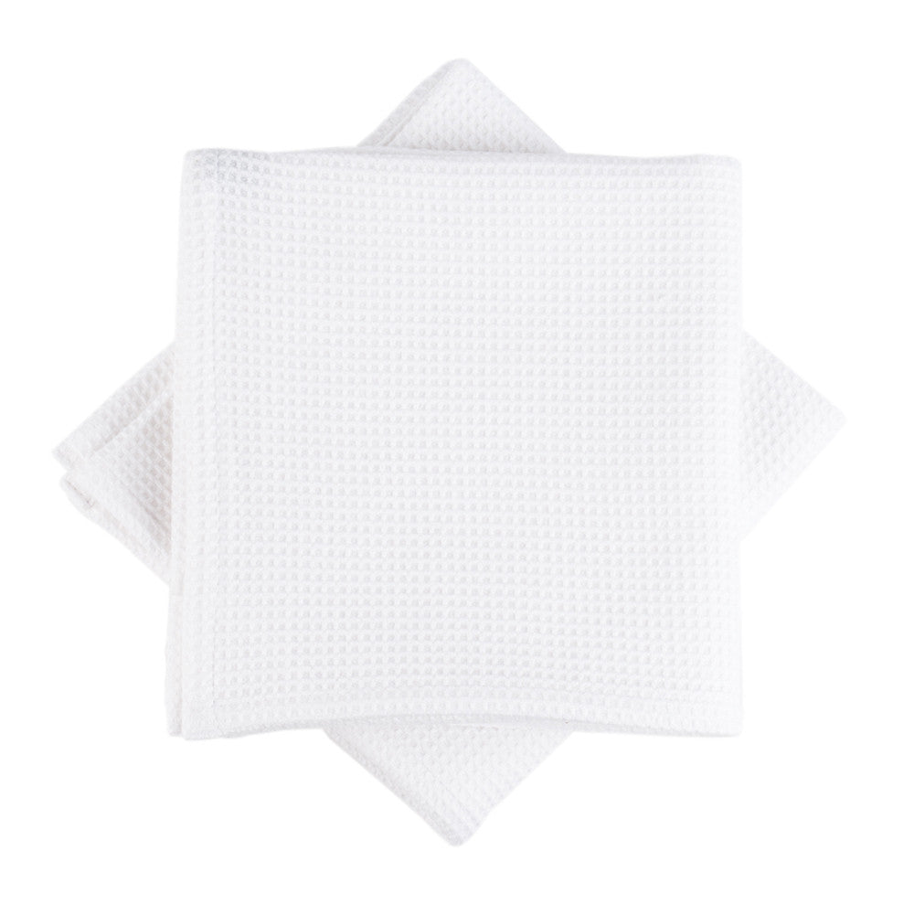 White Honeycomb Tea Towel top view main