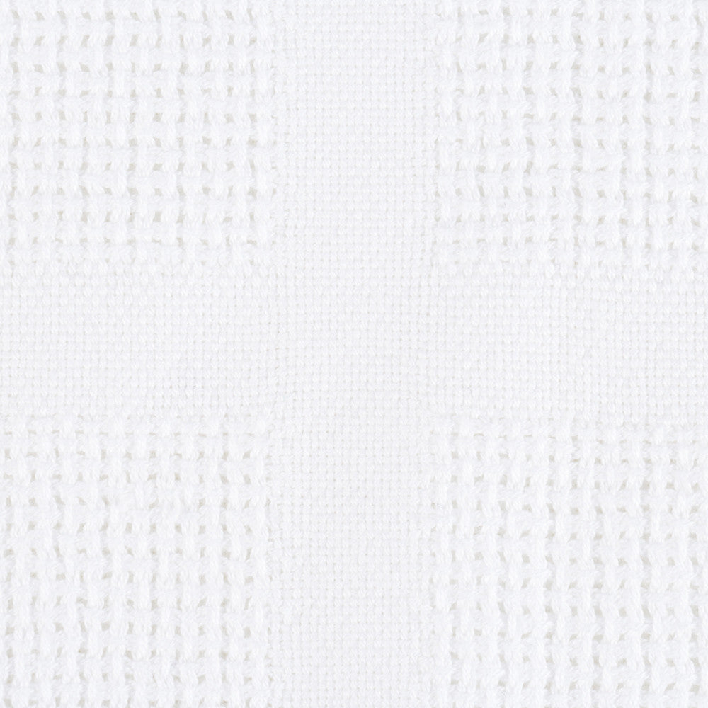 Organic Cotton Baby Blanket white close up of weave