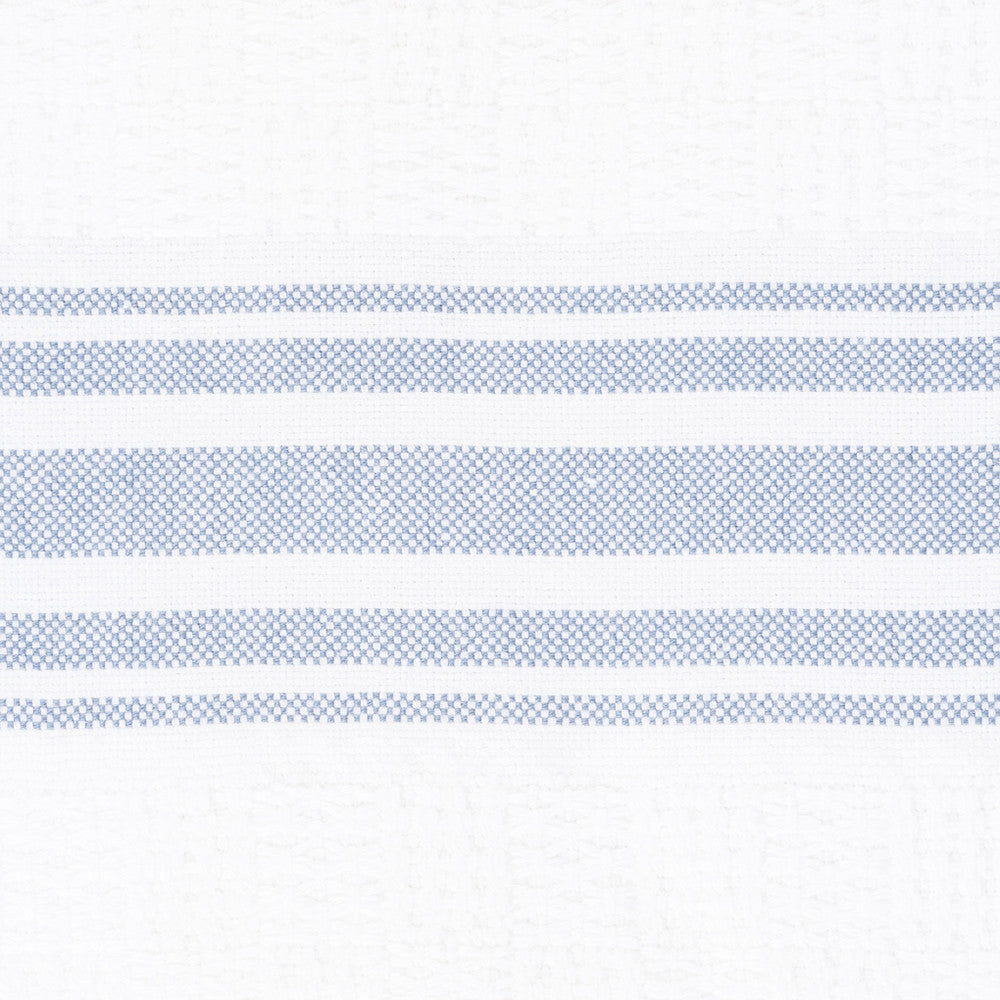Willow Weave Bath Towel bluebell stripe close up