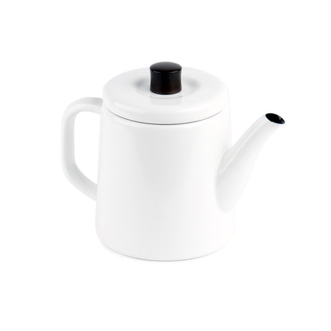 Noda Horo White Enamel Steel Pottle Product Image
