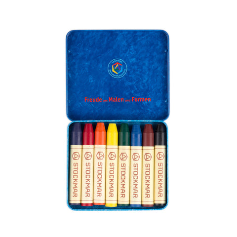 Stockmar Beeswax Crayons Tin of 8 Standard Colours Product Image