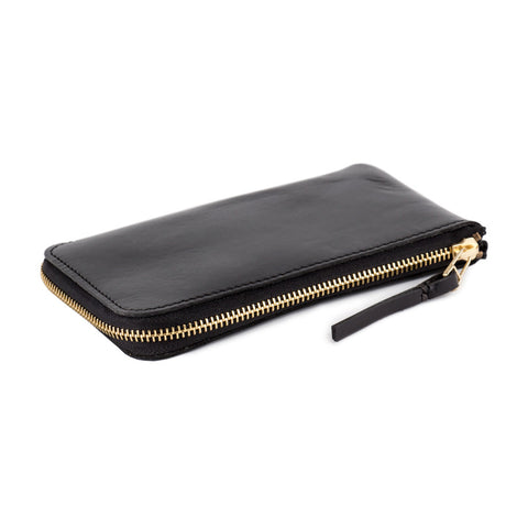 Black Leather Zip Wallet Product Image