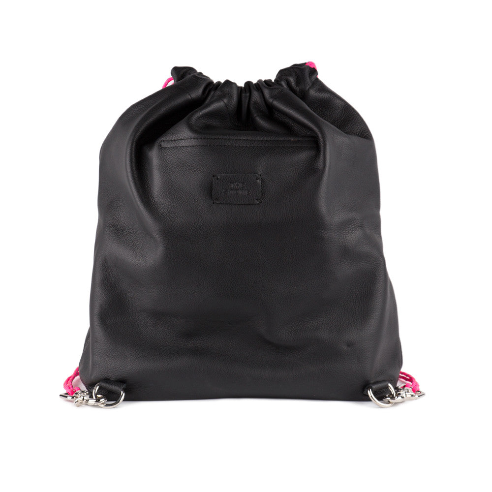 Leather Drawstring Backpack Product Image