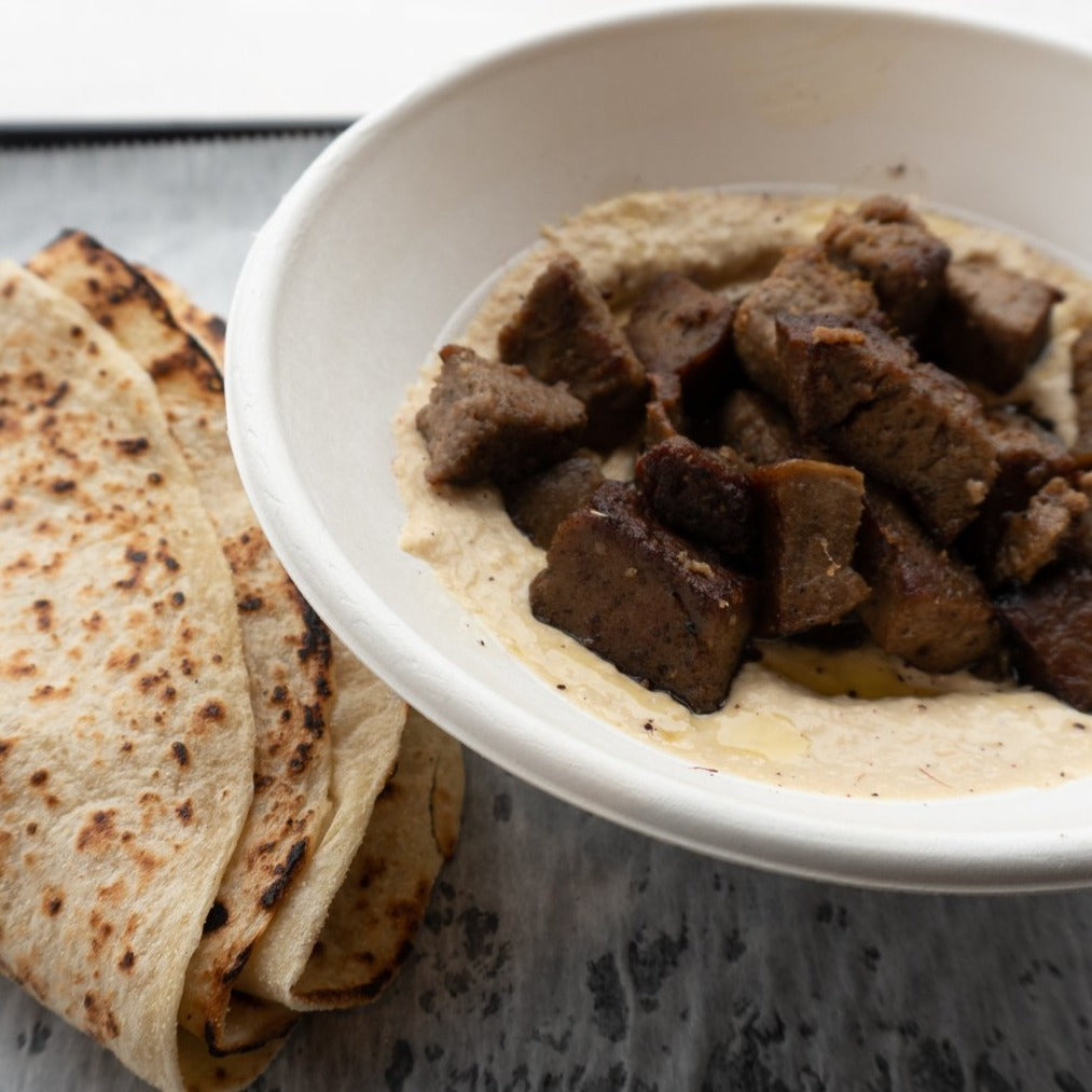 Steak Shawarma Hummus Fattah Bowl
