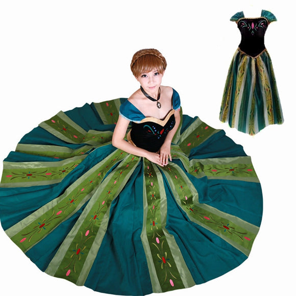 Princess Anna Coronation Dress Adult Costume Cosplay