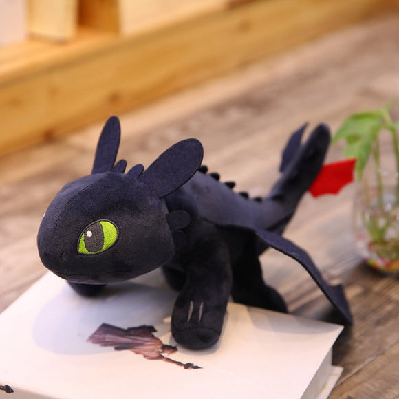 How to Train Your Dragon Night Fury and Light Fury Plush