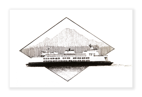 Ferry Diamond Art Print