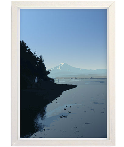 Mount Rainier Art Print; Island View