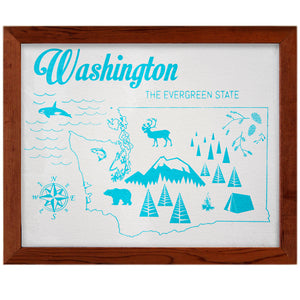 Silkscreen Washington Print