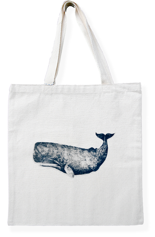 Whale Cotton Tote Bag